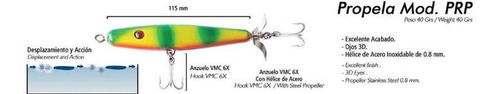 señuelo propela  marca vense 11.5 cm 40 grs