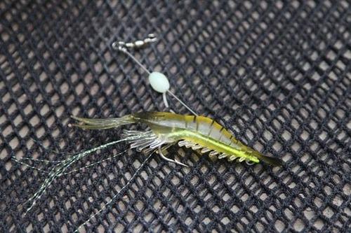 señuelos blandos tipo camarón para pesca (3 und)
