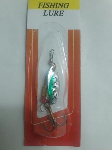 señuelos cucharillas mariposas pesca truchas perca lucio pez