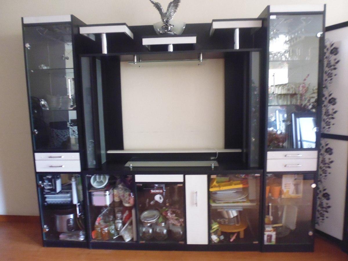 separador de ambienteestante con dos vitrinas en melanine cargando zoom - Separadores De Ambiente
