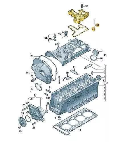 separador oleo amarok/novo fusca original vw 06h103495ah