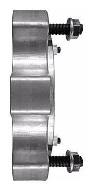 separador rueda traseros 2,5cm yamaha raptor 700 asa juriatv