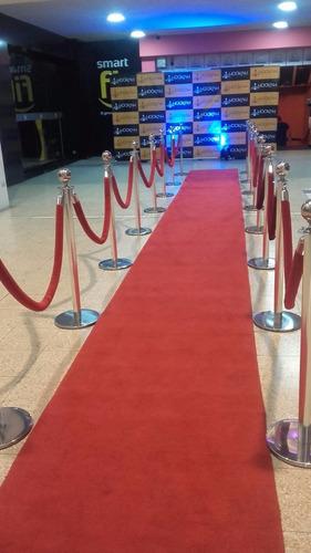 separadores, alfombra roja,grass , salitas lounge