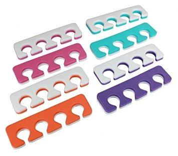 separadores de dedos - soft dos tonos 12 paquete jaylie tm