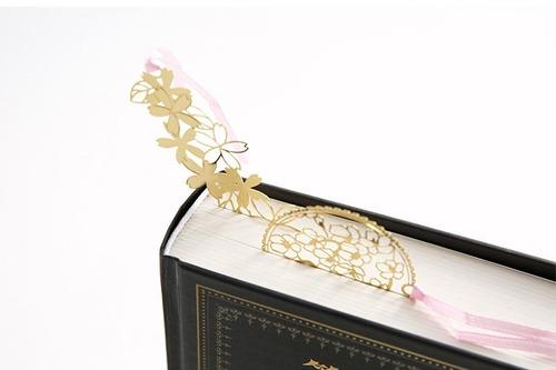 separadores de libros dorado metálico árbol con gato