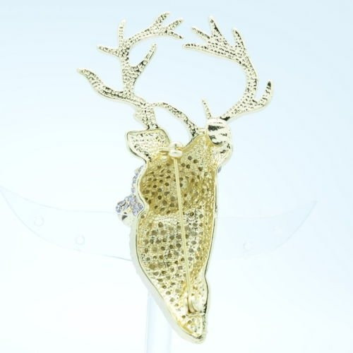 sepbridals pasadores cabeza ciervo broche diamantes imitaci