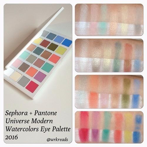 sephora - paleta 24 sombras pasteles mate watercolor
