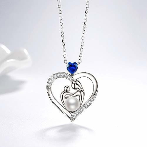 septiembre birthstone lc collar de zafiro azul regalos de cu