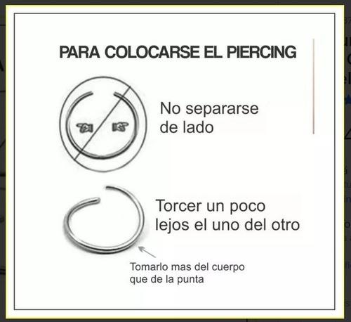 septum falso piercing a presion plata original oferta