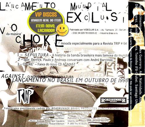 sepultura cd single choke 3 faixas - lacrado