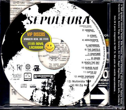 sepultura cd single common bonds 11 bandas punk - lacrado