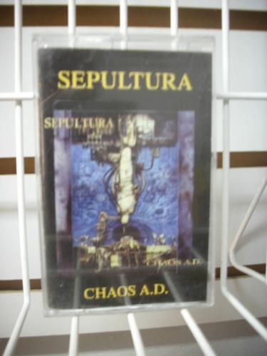 sepultura - chaos a. d. cassette nacional