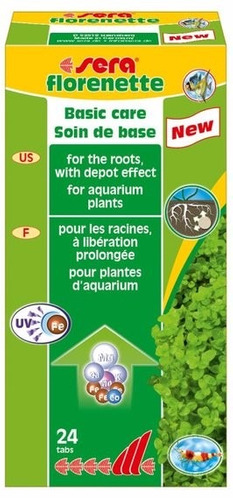sera florenette a 24 tab - para plantas aquáticas