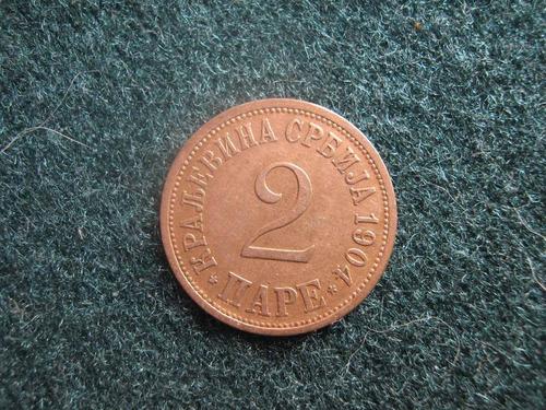 serbia 2 para 1904