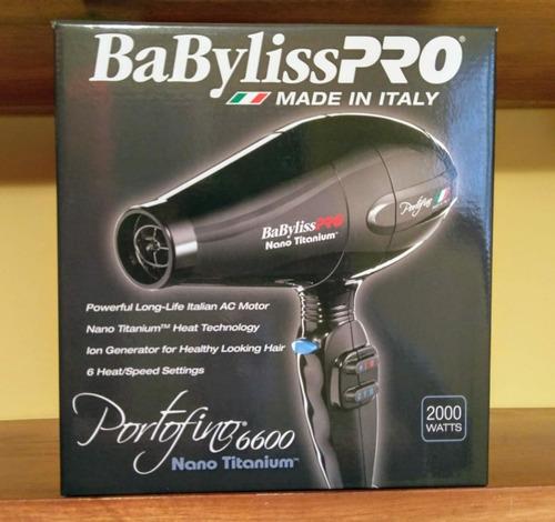 sercadora profesional babyliss portofino 6600 de 2000 watts