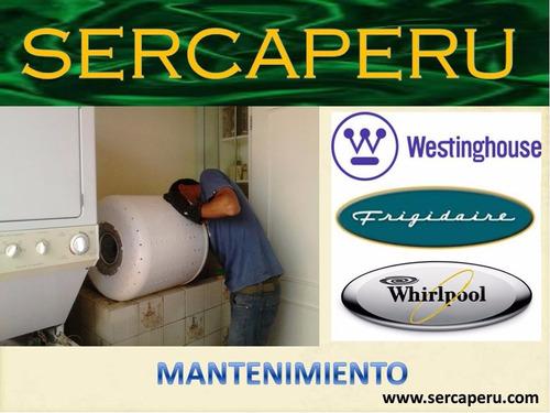 .sercaperu. (.lavadoras frigidaire.) reparacion a domicilio.