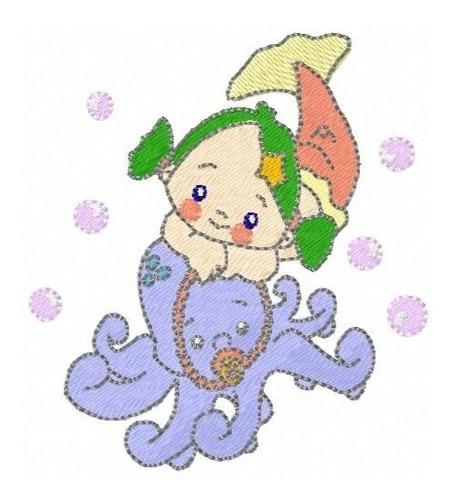 sereia baby 001 - coleção de matriz de bordado