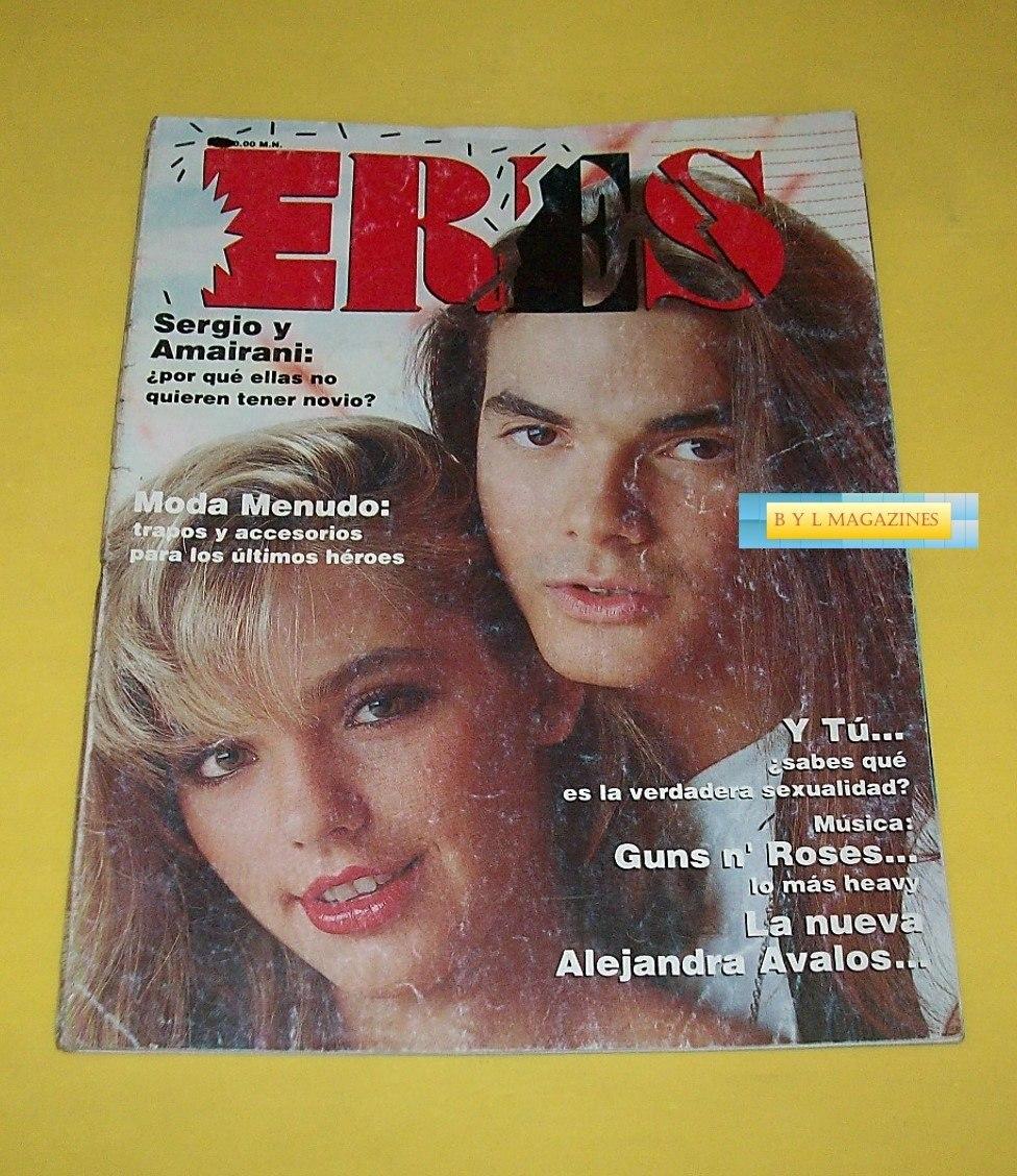 Amairani Fotos sergio blass menudo amairani revista eres 1990 guns n' roses - $ 210.00