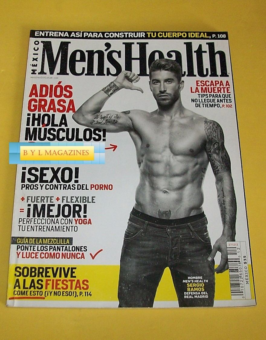 b7359e301e Sergio Ramos Real Madrid Revista Men s Health 2012 -   140.00 en ...