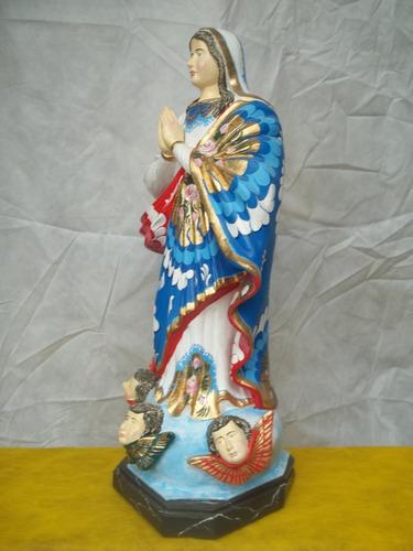 (sergioschw)  escultura terracota n senhora conceição 72 cm