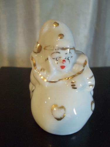(sergioschw)  palhaço pierrot porcelana antigo 6,5 cm
