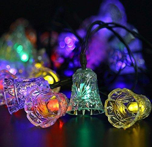 serie 20 luces led solares campanas de colores 4.8 metros
