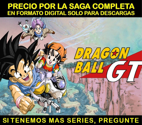 serie anime dragon ball gt saga completa en hd envio digital