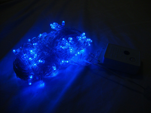 serie azul 10m 100led  interconectables navidad fiesta xv