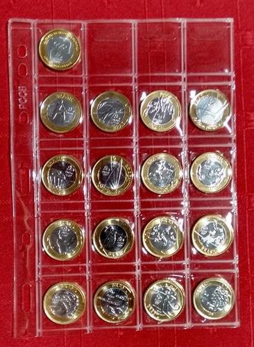 série completa 17 moedas olímpiadas rio 2016 fc + brinde