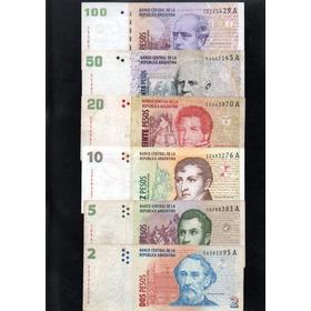 Serie Completa Billetes Pesos Leyenda Convertibles Serie A
