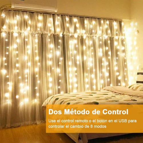 serie cortina luces led 3x3 metros bodas navidad fiesta usb