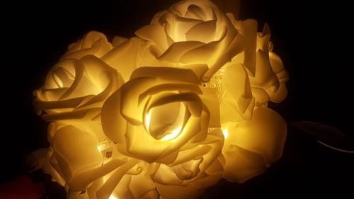 serie de 20 leds en forma de rosas centro de mesas eventos