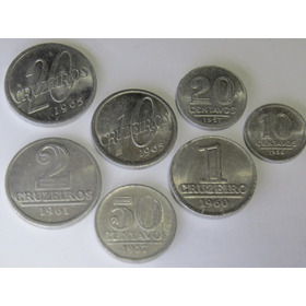 Série De 7 Moedas De Alumínio - (série Completa Por Tipo)