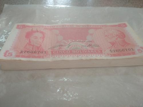serie de billetes de 5 bolivares 1989