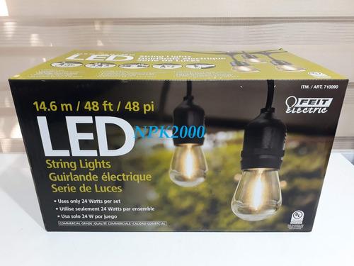 serie de luces led vintage 24 focos + 2 repuestos 25 w 14 m.