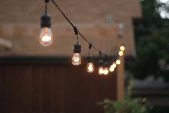 Serie de luces vintage y 10 lamparas chinas 30cm for Luces led para terrazas