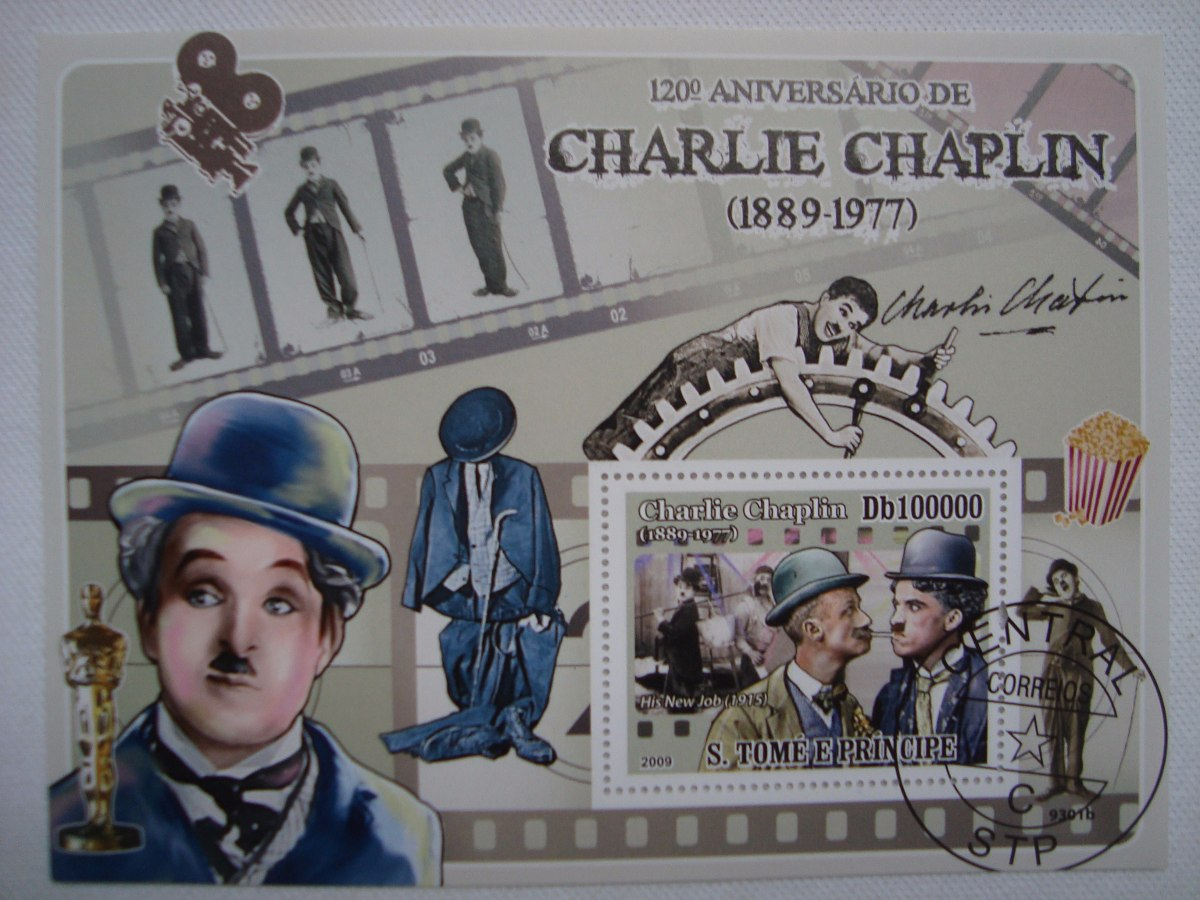 Resultado de imagem para SELO DE CHARLES CHAPLIN