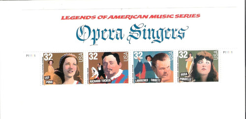 série de selos estados unidos - cantores de ópera americanos