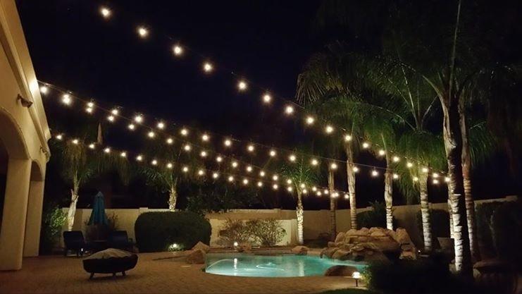 Serie extensi n luces focos lampara china iluminacion for Guirnaldas de luces para exterior