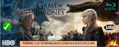serie game of thrones juego de tronos en usb 3.0 1080p