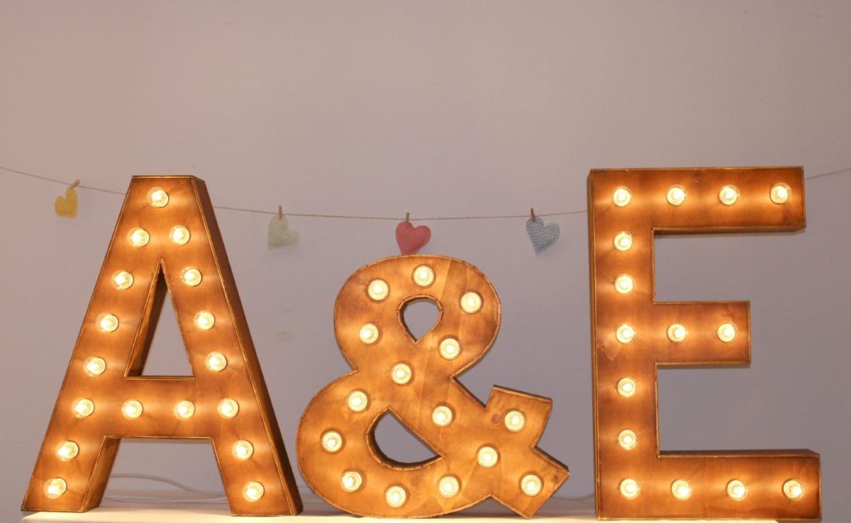 Serie led 10 focos esfera letras inalambricas letreros en mercado libre - Casa letras madera ...