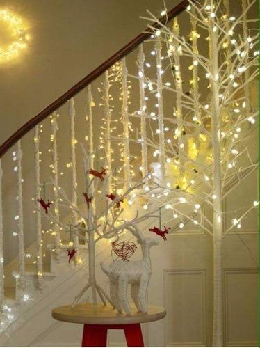 serie led cálido claro 15 mts. 300 luces vintage navideña