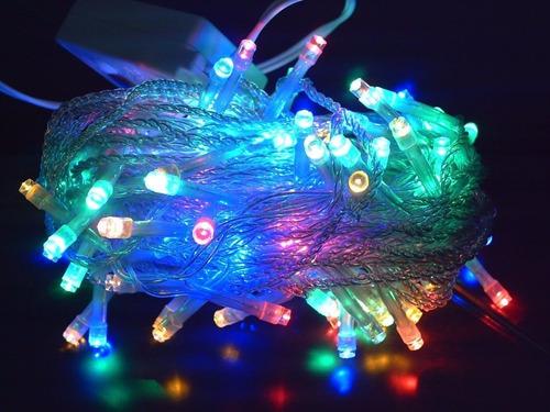 serie led multicolor 15 mts. 300 luces navideña