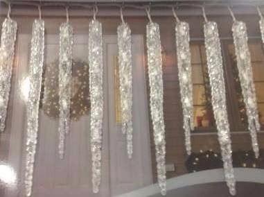 serie led navidad, forma de hielo , estalactitas, carámbanos