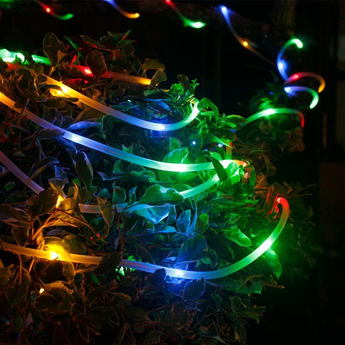 serie luces navidad solar 100led decorativa 10mt