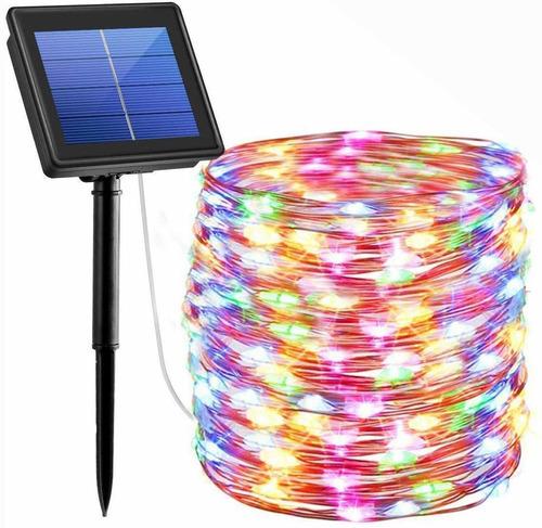 serie luces navidad solar 200led decorativa 20mt glückluz