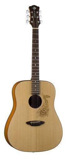 serie luna gypsy henna dreadnought guitarra acústica