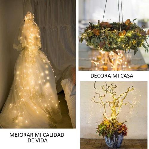 serie luz decorar 100led 10m usb boda patio jardín glückluz