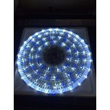 serie luz led navidad 140 focos azul y blanco 8.2mts control