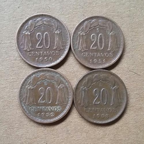 serie monedas de 20 centavos 1942 a 1953